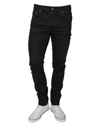 NUDIE Lean Dean Dry Ever Black Jeans