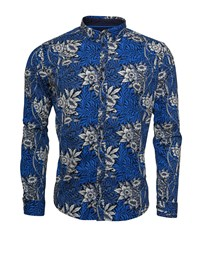 SOLID Juan Flower LS Shirt