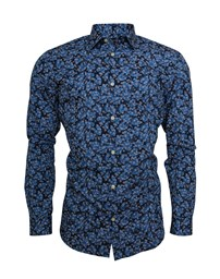 SELECTED SLHSlimpen-Blue Shirt LS AOP B Noos