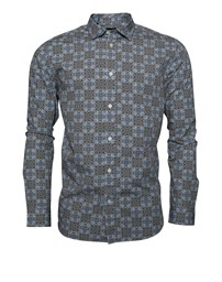 SELECTED SLHSlimrollo Shirt LS AOP B