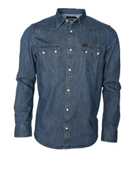 LEE Lee Rider Shirt Dipped Blue