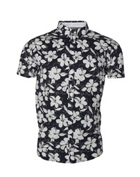 SOLID Bill SS BD Flower Shirt